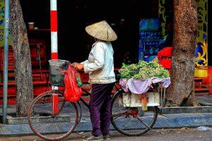Vietnam Frau beim Einkaufen