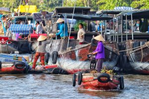 Vietnam schwimmender Markt